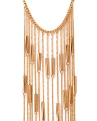 Forever 21 | Metallic Linear Chain Fringe Necklace | Lyst