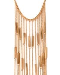 Forever 21 - Metallic Linear Chain Fringe Necklace - Lyst