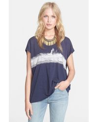 Free People - Blue 'thunder Moon' Graphic Tee - Lyst
