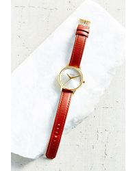 Nixon - Red Kensington Leather Watch - Lyst