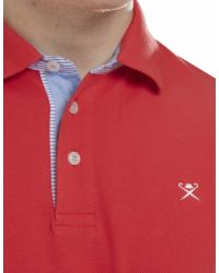 Hackett - Jacquard Tailored Fit Polo Shirt for Men - Lyst