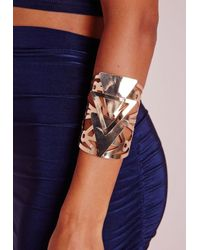 Missguided | Metallic Statement Triangle Cuff Gold | Lyst