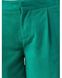 Paul by Paul Smith - Green Perforated Shorts - Lyst