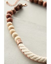 Anthropologie - White Ropewood Necklace - Lyst
