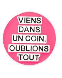 Saint Laurent - Pink 'eighties' Pin - Lyst