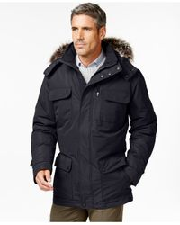 London Fog - Blue Big & Tall Oxford Parka for Men - Lyst