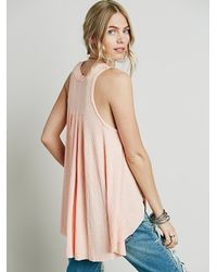 Free People - Pink Womens We The Free Monroe Tank - Lyst