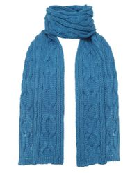 Jules B - Blue Cable Knit Scarf for Men - Lyst