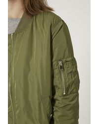 TOPSHOP | Brown Ma1 Bomber Jacket | Lyst