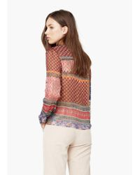 Mango | Multicolor Flowy Printed Blouse | Lyst