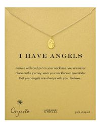 Dogeared - Metallic I Have Angels Necklace - Lyst