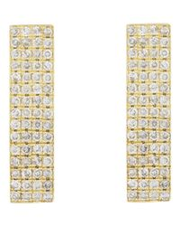 Jennifer Meyer | Metallic Rectangular Studs-colorless | Lyst