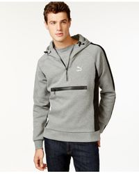 PUMA | Gray Men's Evo Savannah Half-zip Pullover Hoodie for Men | Lyst