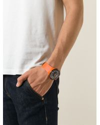 Tateossian | Orange 'Racing Time' Watch for Men | Lyst