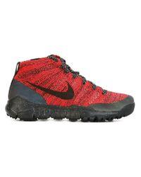 Nike | Red 'flyknit Chukka Fsb' Hi-top Snekaers | Lyst