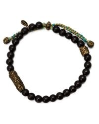 M. Cohen | Black Carved Bead Bracelet for Men | Lyst