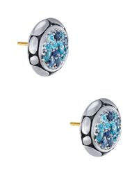 John Hardy | Blue Kali Pure Lavafire Sea Colorway Earrings | Lyst