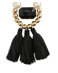 H&M | Black Tasselled Earrings | Lyst