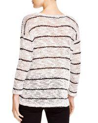 Splendid | White Broome Stripe Sweater | Lyst