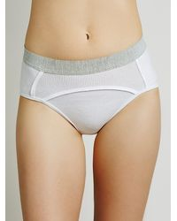 Free People | White One Of The Boys Undie | Lyst