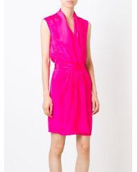 Unconditional - Pink Short Wrap Dress - Lyst