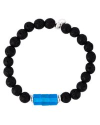 Tateossian | Blue Lava Beaded Bracelet for Men | Lyst