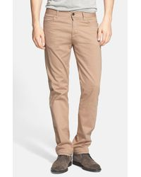 Canali | Natural Straight Leg Stretch Cotton Pants for Men | Lyst