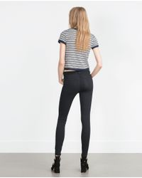 Zara | Black Low Waist Stretch Jeggings | Lyst