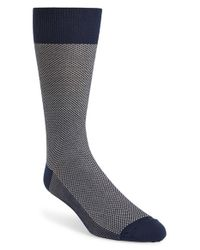 Polo Ralph Lauren | Blue Bird's Eye Knit Dress Socks for Men | Lyst