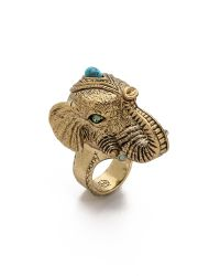 House of Harlow 1960 - Metallic Elephant Prosperity Ring Gold - Lyst