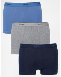 DKNY | Blue 3 Pack Trunks for Men | Lyst