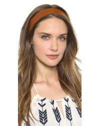 Jennifer Behr - Brown Leather Headband - Black - Lyst