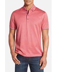 Robert Graham - Pink 'mahalo' Short Sleeve Polo for Men - Lyst
