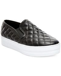 Madden Girl | Black Plaaya Quilted Flatform Slip-on Sneakers | Lyst