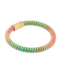 Carolina Bucci - Multicolor Neon Twister Bracelet Yellow Gold - Lyst