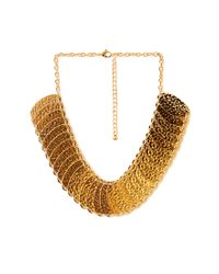 Forever 21 | Metallic Hammered Oval Necklace | Lyst