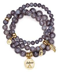 Sequin - Gray Balance Feather Bracelets, Set Of 3 - Lyst