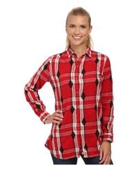 Woolrich - Red First Light Jacquard Shirt - Lyst