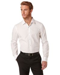 Perry Ellis | White Slim Fit Mini Diamond Sportshirt for Men | Lyst