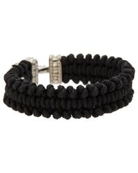 Vivienne Westwood - Black Aristotle Cord Bracelet - Lyst