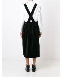Comme des Garçons - Black Shoulder Strap Skirt - Lyst