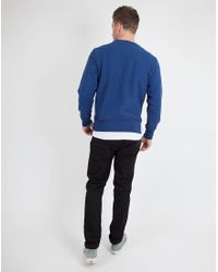 Champion   Reverse Weave Crew Neck Sweatshirt Blue for Men   Lyst