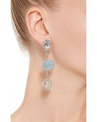 Jordan Alexander - Blue Mo Exclusive: One Of A Kind 18k White Gold Diamond And Aquamarine Earrings - Lyst