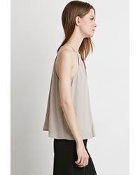 Forever 21 | Brown Pleated Chiffon Cami | Lyst