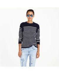J.Crew - Blue Collection Cashmere Seamed Sweater In Stripe - Lyst