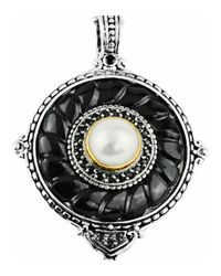 Konstantino - Black Round Carved Onyx - Lyst