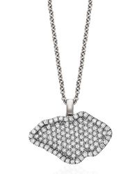 Kimberly Mcdonald | Metallic 18k White-gold Pavé Diamond Pendant Necklace | Lyst