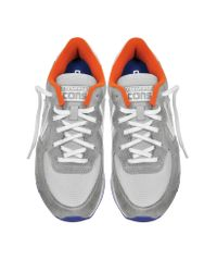 Converse - Auckland Racer Ox Gray Orange Blue Nylon And Suede Sneaker for Men - Lyst