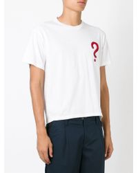 Au Jour Le Jour - White Question Mark T-shirt for Men - Lyst