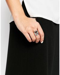 KENZO | Metallic Rhodium Sterling Silver Tiger Laque Ring | Lyst